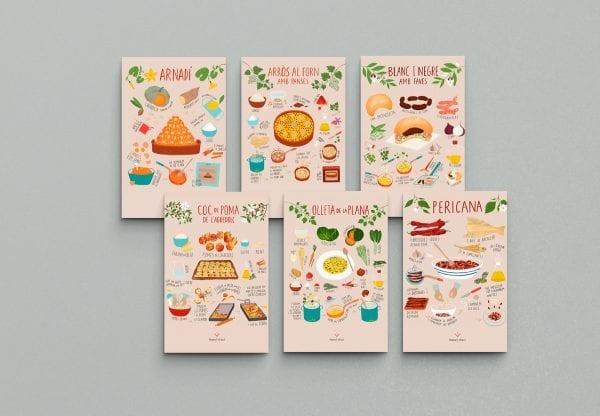 6 postals Marta Antelo