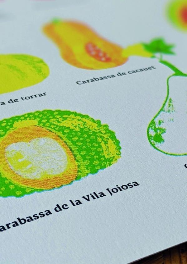 Serigrafia 2 Serigrafia 'Varietats tradicionals valencianes'
