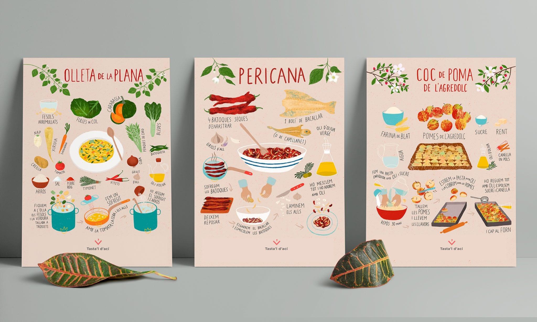 poster postals 1 6 postals 'Cuina valenciana iŀlustrada'