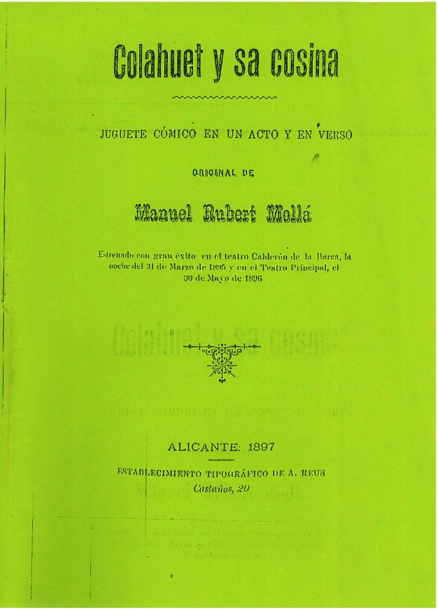 Colauet i sa cosina, de Rubert Mollà