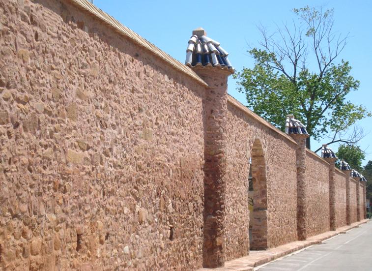 Murs de l'antic botànic de Puçol