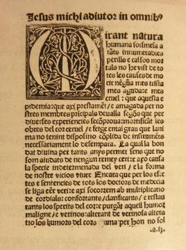 Regiment preservatiu i curatiu de la pestilència (Lluís Alcanyís)