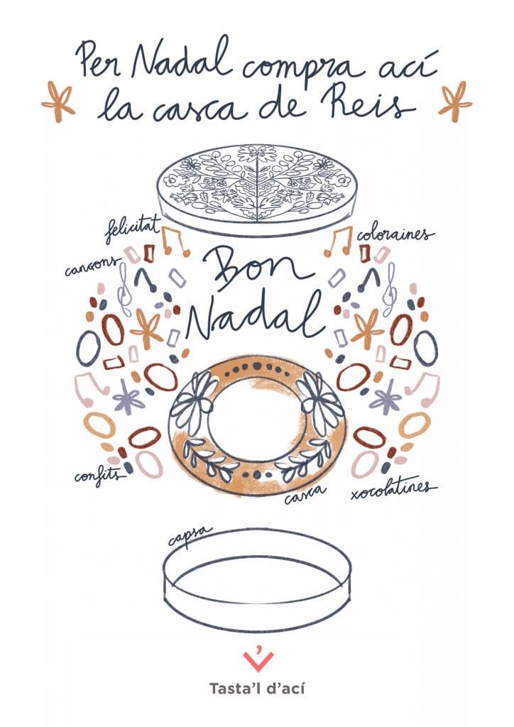 Cartell casca Tasta'l d'ací per Sabina Alcaraz