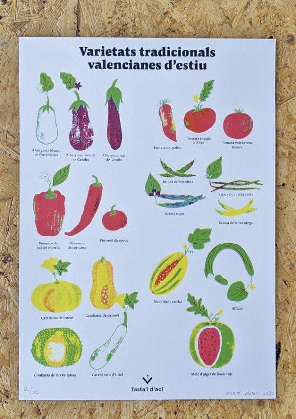 Serigrafia Serigrafia 'Varietats tradicionals valencianes'